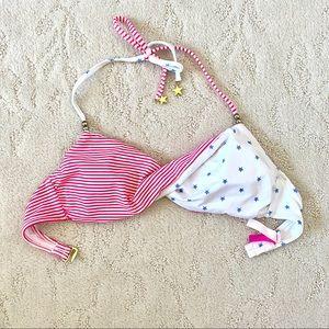 Victoria's Secret American Flag Bikini Swim Top